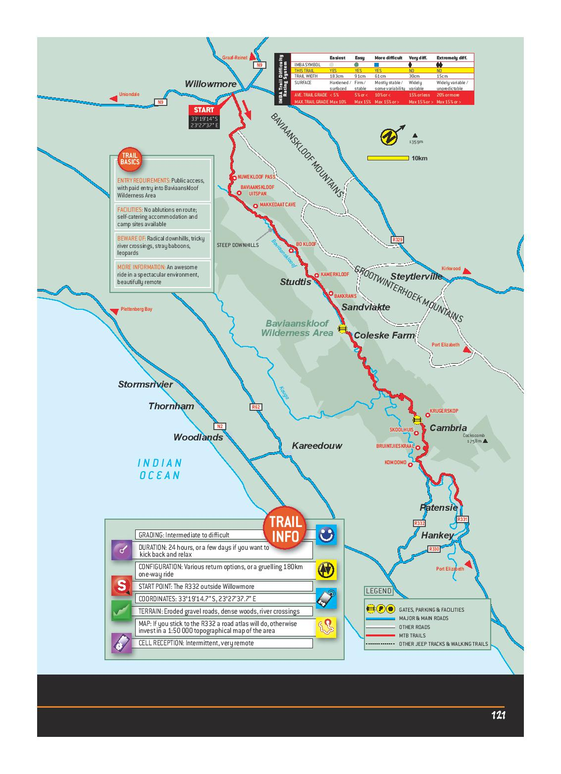 Baviaanskloof Wildernes Area EASTERN CAPE MTB ROUTES MAP-page-001