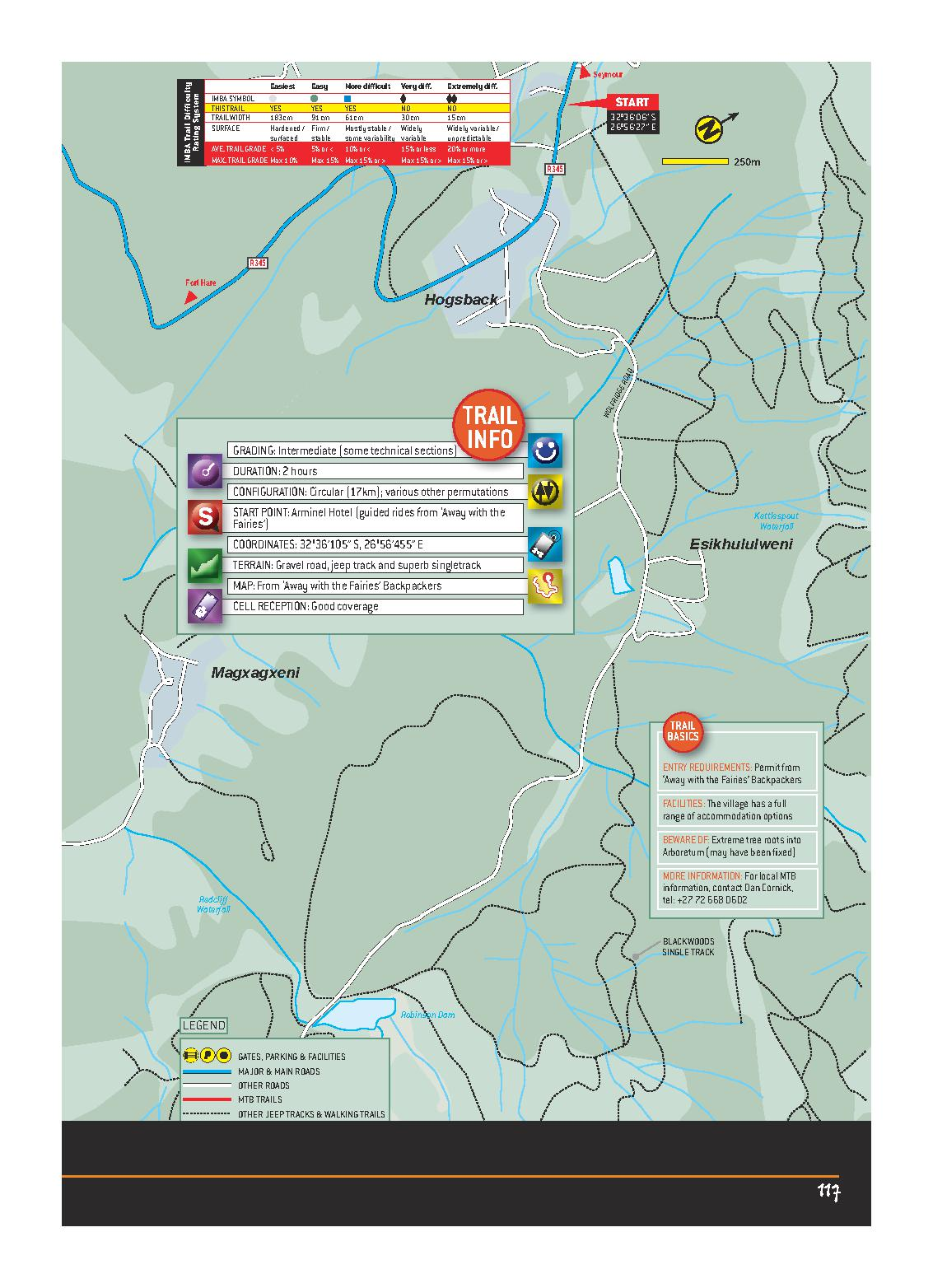 Hogsback EASTERN CAPE MTB ROUTES MAP