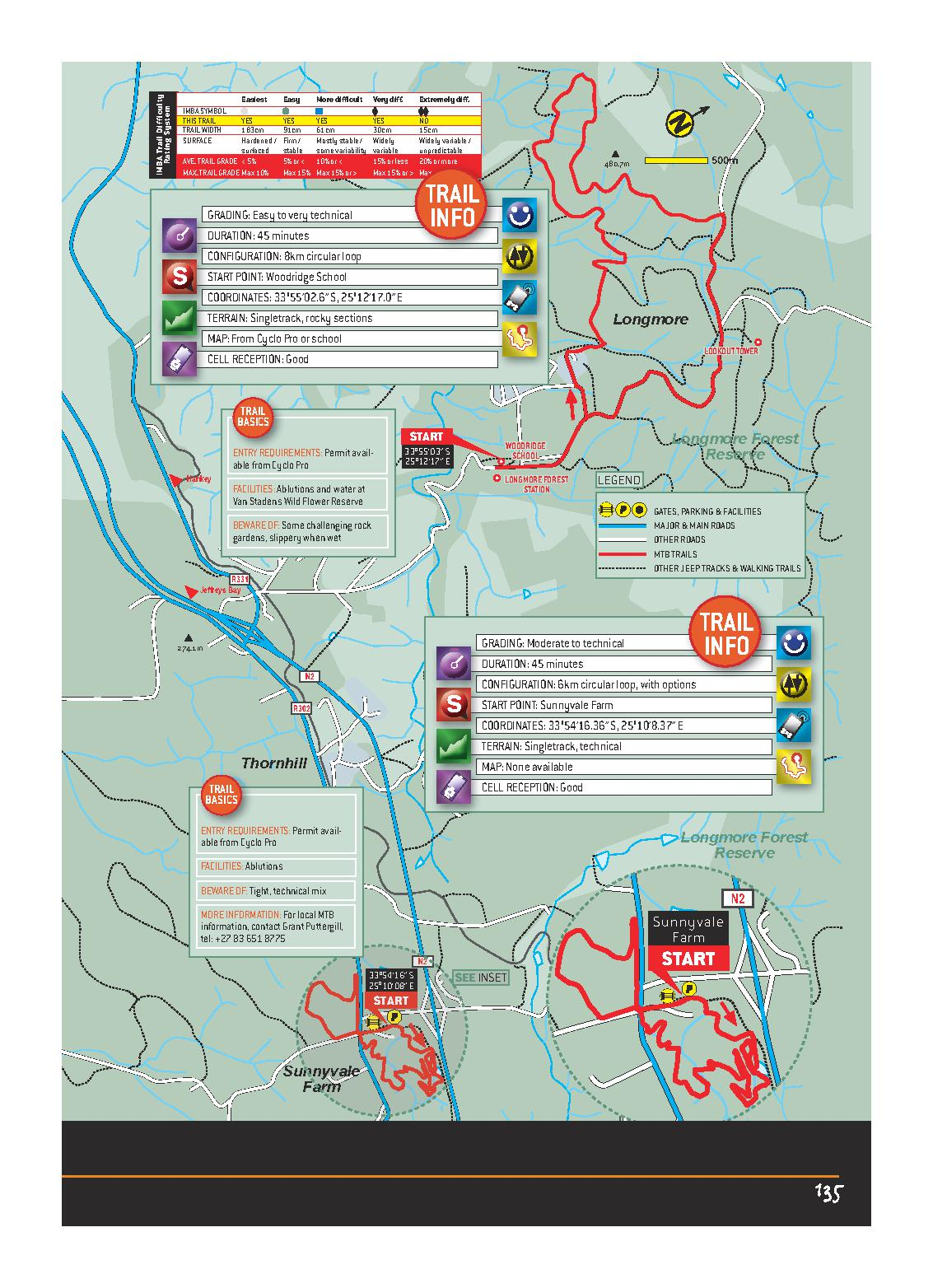 Longmore Forest Reserve EASTERN CAPE MTB ROUTES MAP