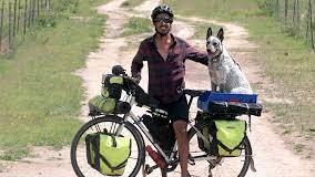 Bikepacking dog
